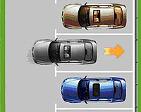 路边侧方车位停车图解及倒入车位技巧图解