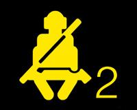 乘客安全带指示灯图标